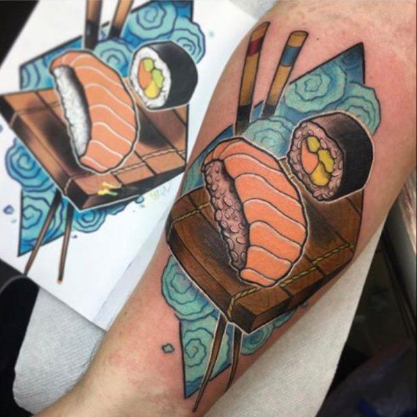 tatuaje sushi niguiri