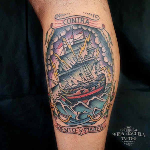 Tatuaje de barcos en Valencia